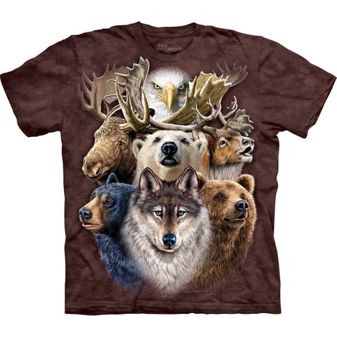 Northern Wildlife Collage Kids T-Shirt