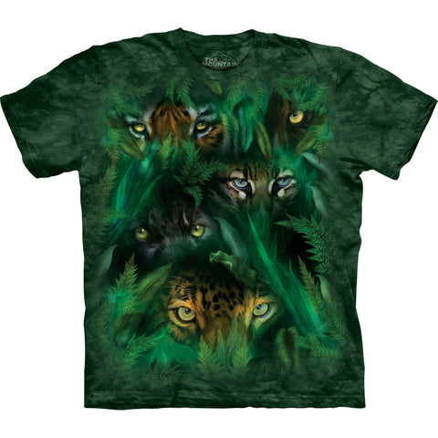 Big Cat Jungle Eyes Kids T-Shirt