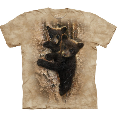 Bear Cubs Curious in a Tree Kids T-Shirt