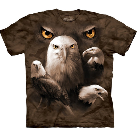 Eagle Moon Eyes Collage Kids T-Shirt