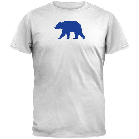 Walking Blue Bear Silhouette White T-Shirt