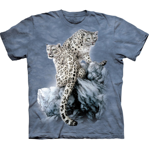 Snow Leopards High On Top Kids T-Shirt