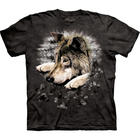 Wolf In Dyed Paw Kids T-Shirt