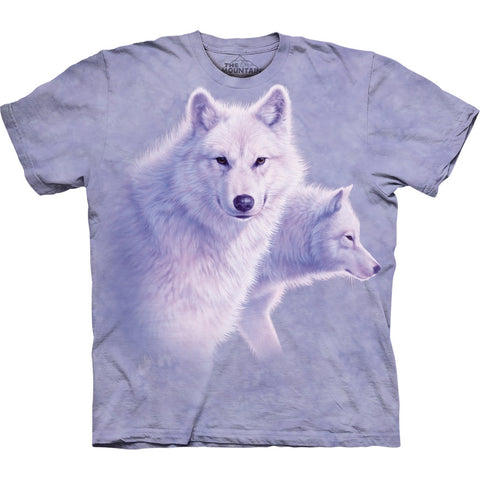 Graceful White Wolves Kids T-Shirt