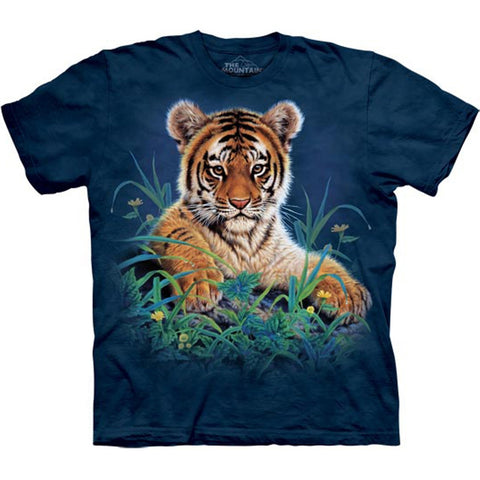 Tiger Cubs in Grass Kids T-Shirt