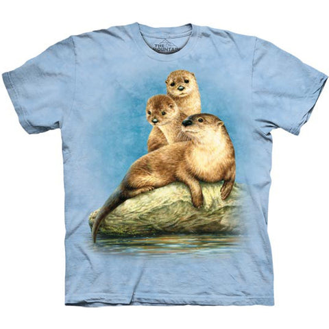 Otter Trio on Rock Kids T-Shirt