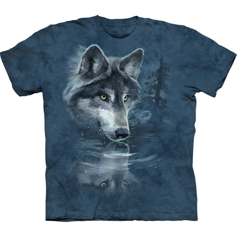 Wolf Water Reflection Kids T-Shirt
