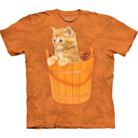 Kitten in a Bucket Kids T-Shirt