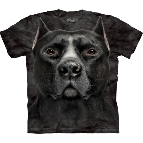 Black Pit Bull Head Kids T-Shirt