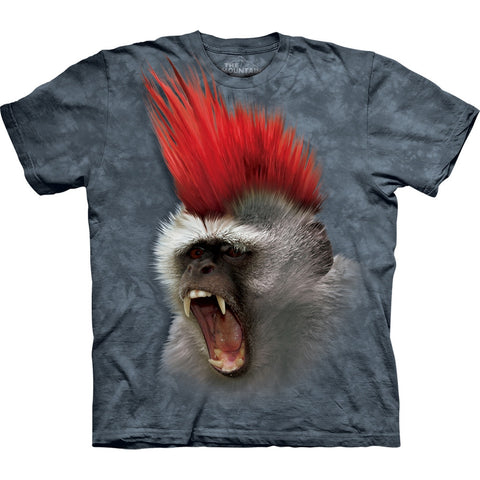 Monkey With a Punky Mohawk Kids T-Shirt
