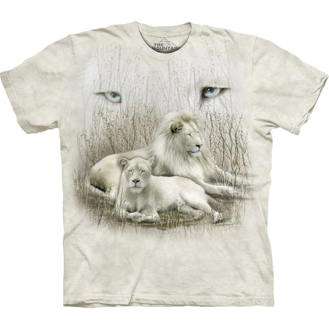 White Lions Sitting in Brush Kids T-Shirt