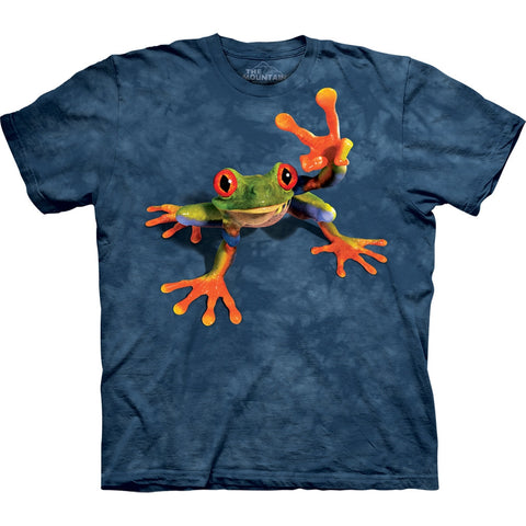 Tree Frog Giving Peace Kids T-Shirt