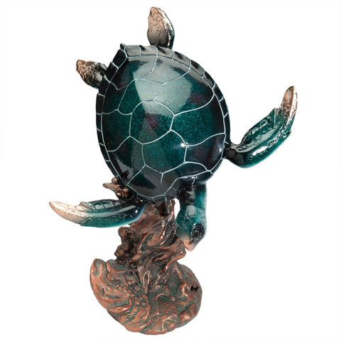 Sea Turtle Swimming Figurine