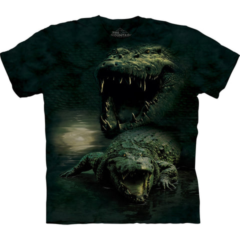 Alligator Dark Gator Collage Kids T-Shirt