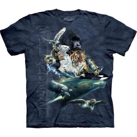Endangered Species Collage Kids T-Shirt