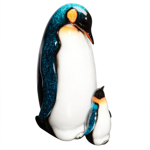 Father & Baby Penguin Figurine