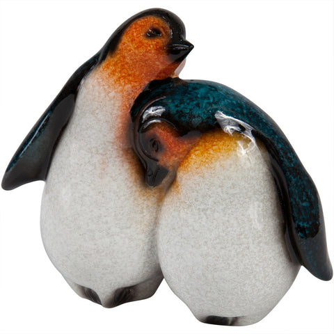 Cuddling Baby Penguins Figurine
