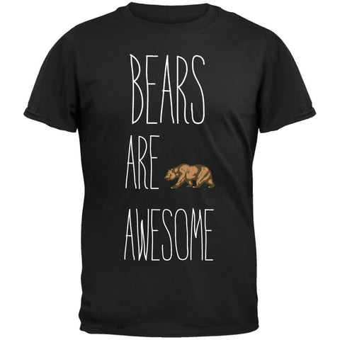 Bears are Awesome Black T-Shirt
