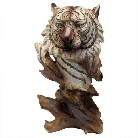White Tiger Bust Figurine
