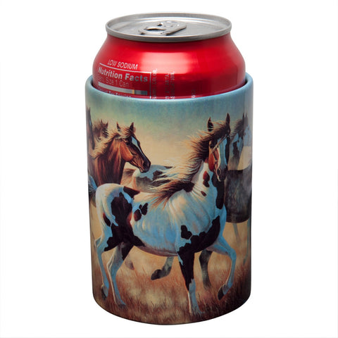 Horses Running Can Cooler