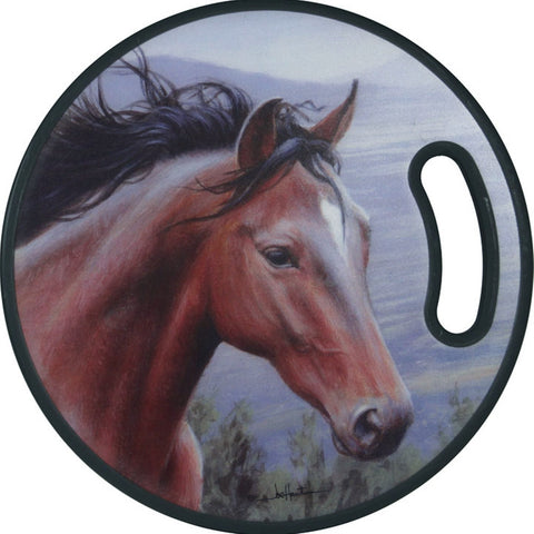 Mustang Round Cutting Board