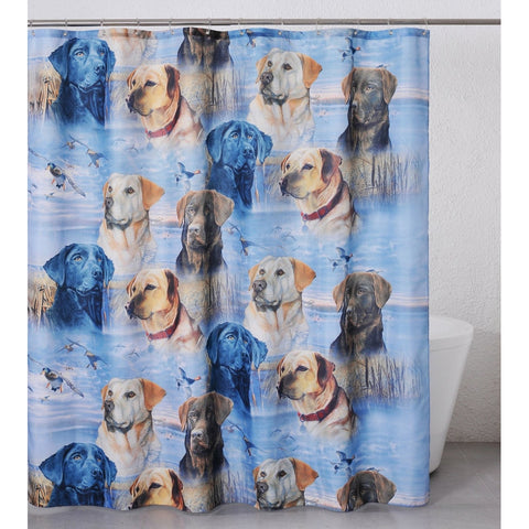 Lab Element Fabric Shower Curtain