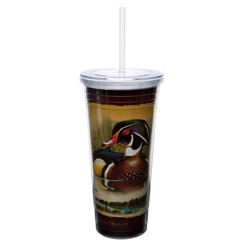 Wood Duck Double-Wall Insulated Acrylic Tumbler