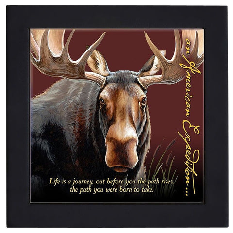 Bull Moose Wood Framed Trivet