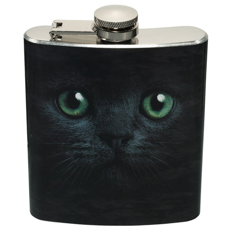 Cat Black Flask