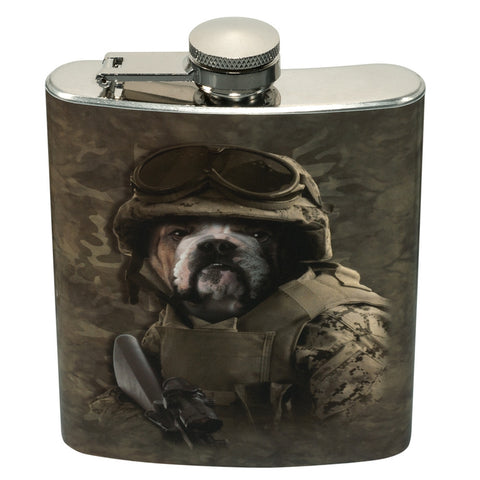 Combat Bulldog Sam Flask