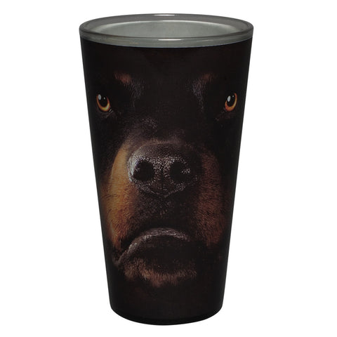 Rottweiler Face Pint Glass