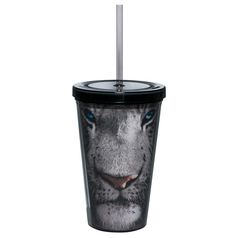 White Tiger Face Tumbler