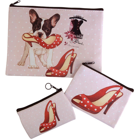 Naughty Dog With Red Shoes Purses Set