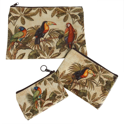 3 Tropical Birds Purse Set