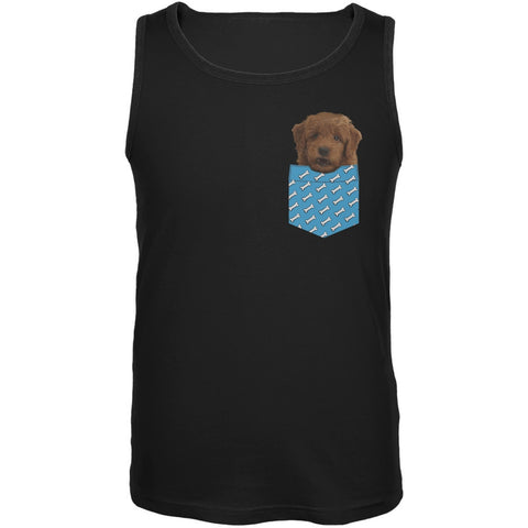 Faux Pocket Furry Puppy Tank Top