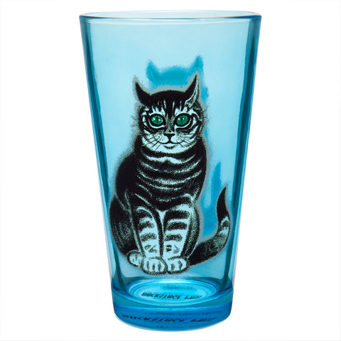 Green Eyed Cat Pint Glass