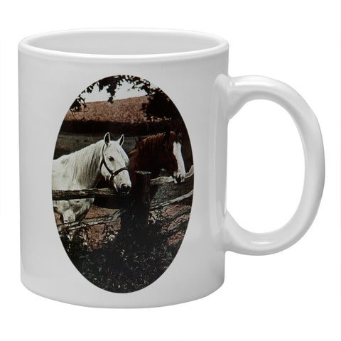 Two Horses Portrait Coffee Mug