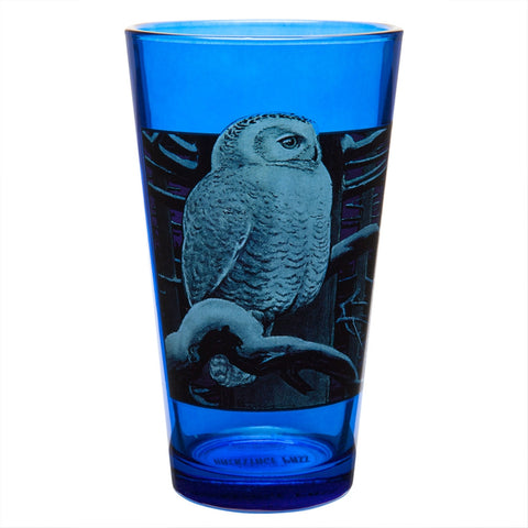 Owl Perched Pint Glass