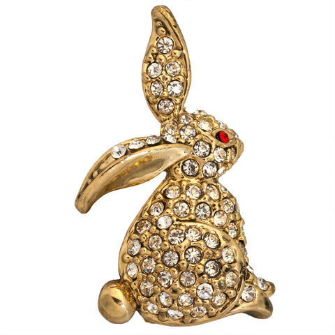 Gold Rabbit Bar Pin