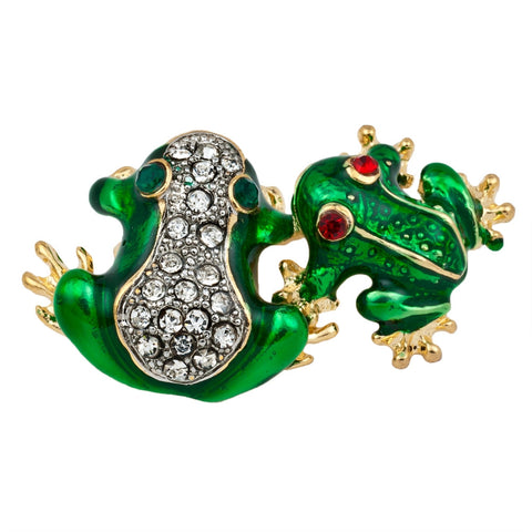 Frogs Gold Bar Pin