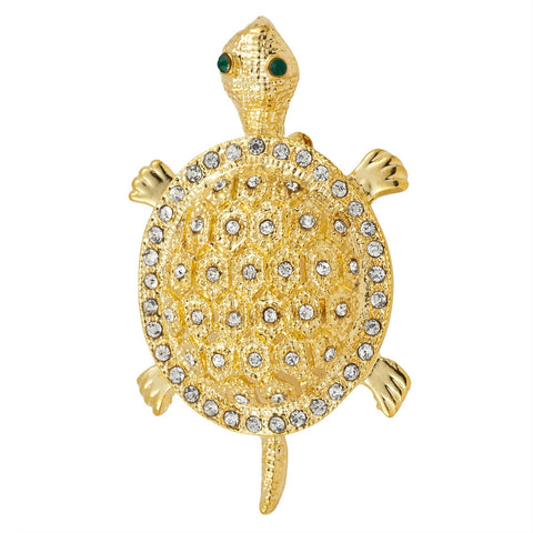 Small Turtle Gold-Tone Pin