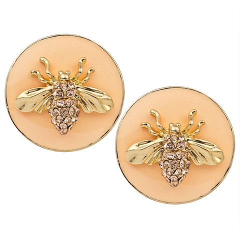 Insect Gold-Tone Post Earrings