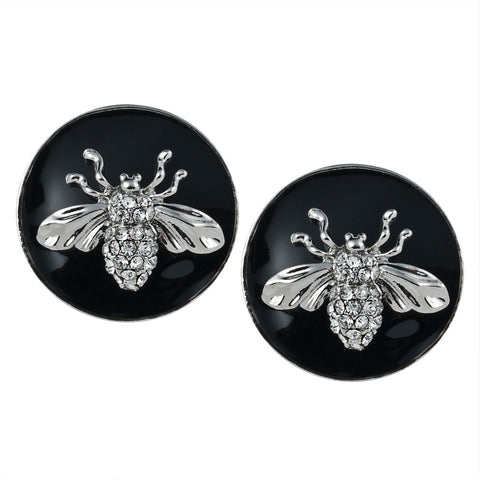 Insect Silver Post Earrings