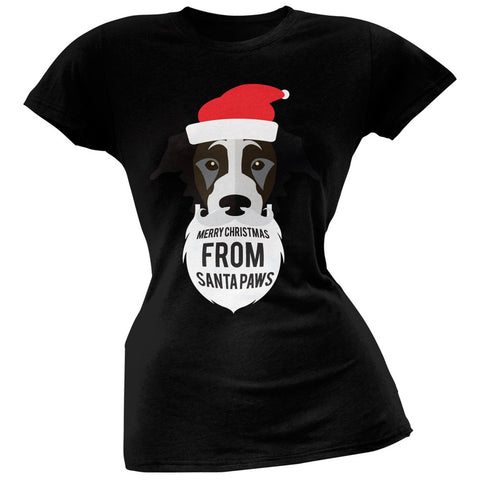 Black Dog Santa Juniors T-Shirt