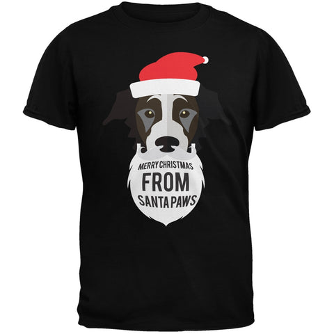 Black Dog Santa Youth Black T-Shirt