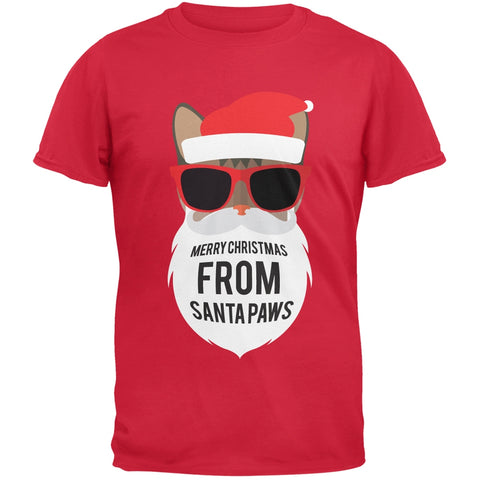 Cat Santa Ugly Christmas Sweater Red T-Shirt