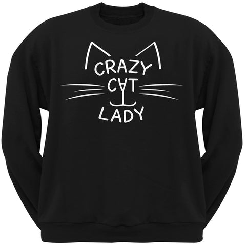 Crazy Cat Lady Black Crew Neck Sweatshirt