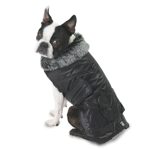 Boston Black Dog Parka Vest