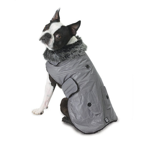 Boston Grey Dog Parka Vest
