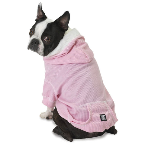 Bentley's Fur Trimmed Pink Dog Hoodie
